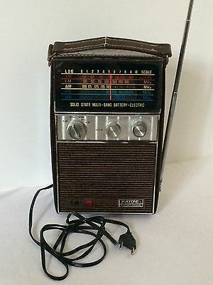 Old Vintage Radio And Case 1950/60s