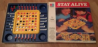 Stay Alive Board Game by MB Games 1975 Edition Classic Vintage Complete
