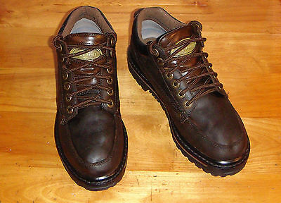 SKECHERS Mens 7 Womens 9 Leather Ankle Boot Lace Up Quality Brown Lace EXCELLENT