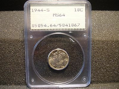1944-S Silver Mercury Dime PCGS MS-64 Coin