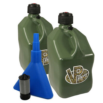 2 Pack VP 5 Gallon Camo Racing Fuel Jug/Gas Can/Jerry Container/Funnel & Filter