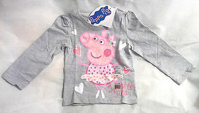 Peppa Pig Long Sleeve Shirt Top Size 2T Twinkle Toes  New With Tags