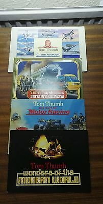 Set Of Four Collector Albums Of Tom Thumb Cards All Complete