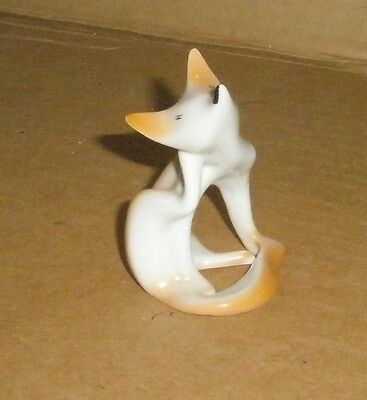 Fox Figurine/ Art Deco Hollohaza