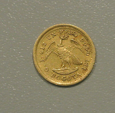 Colombie Rare 1 Peso Or /gold1872