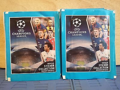 UEFA Champions League 2016/17 Sticker Collection. 44 PACKS.