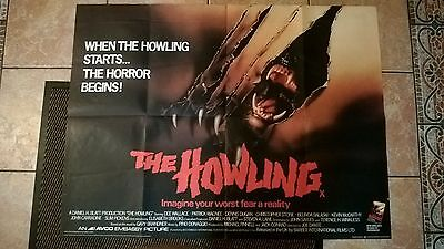 The Howling 1981 Original UK Quad POSTER 30 X 40 INCHES