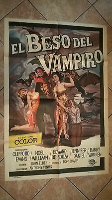 Kiss of the Vampire - HAMMER Original UNIVERSAL INTERNATIONAL SPANISH POSTER