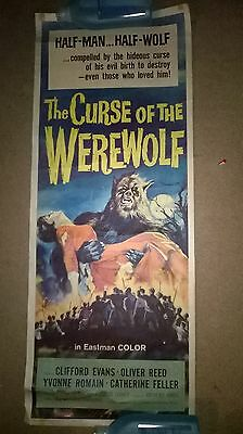 The Curse of the Werewolf  1961   US insert HAMMER Original .ROLLED POSTER .