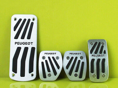 NO drill Fuel Brake Foot Rest MT Pedal Pad Cover For Peugeot 207 208 2008 301