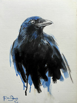 Crow,Pen and Ink Drawing,Original Fine Art,Direct from the Artist