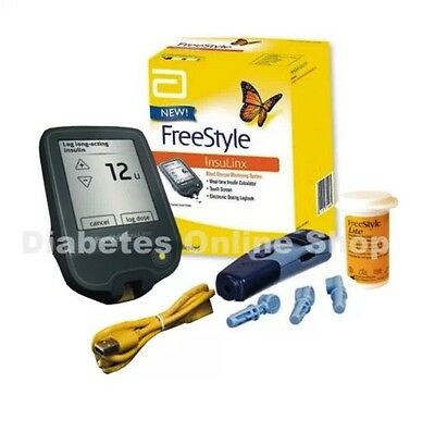 FreeStyle InsuLinx Blood Glucose Monitoring System TOUCH SCREEN BNIB RRP £59