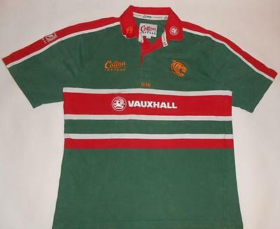 RUGBY SHIRT COTTON TRADERS LEICESTER TIGERS (L) Jersey Trikot Maillot Maglia