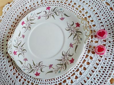 Pretty Vintage Royal Standard Fancy Free Cake Or Sandwich Plate Platter Pink
