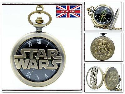 New Star Wars Hollow Necklackle Pocket Watch Rogue One *UK Stock