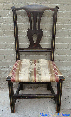 Diminutive Country Chippendale Paint Decorated Chair c. 1780