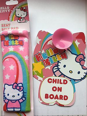 Hello Kitty Car Sign And Seat Belt Pad
