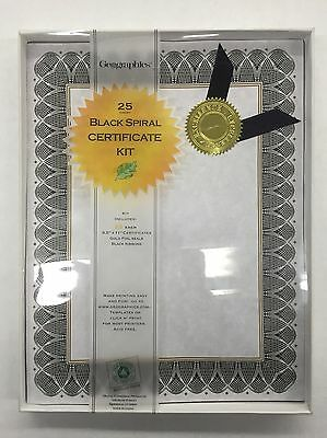 Award Certificate Parchment Paper Kit with Seals Pack of 25 (NEW)