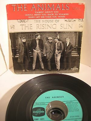 THE ANIMALS EP The House Of The Rising Sun franz. Pressung Columbia vg+
