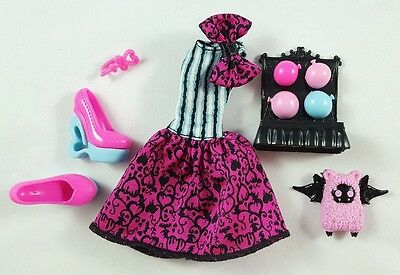 New Monster High Scarnival Draculaura Outfit Deboxed Shoes Accessories