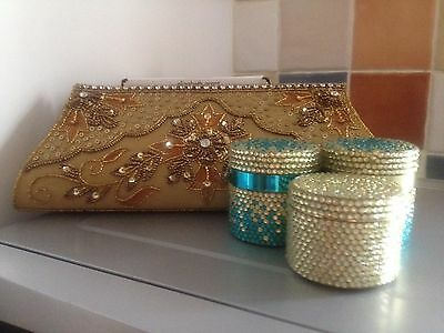 Elizabeth Grant Skin Care and Evening Bag Set (items sealed and boxed)