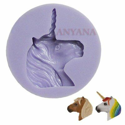unicon horse Silicone Mould fondant cup Cake Topper Wimbledon Chocolate mold