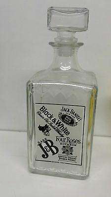 bouteille a alcool CARAFE A WHISKY  BLACK & WHITE  AMBIANCE 24 CM