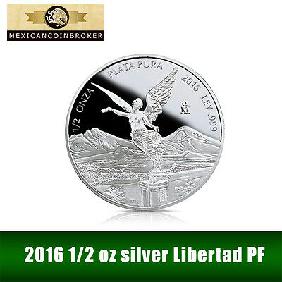 2016 1/2 oz Silver Libertad Proof   *Treasure Coins of Mexico™*