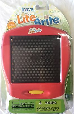 Travel Lite Brite by Hasbro-Red, 120 Pegs, Brand New, Factory Sealed