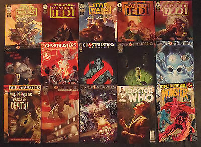Doctor Who, Star Wars, Ghostbuster...lot of 15 comic books