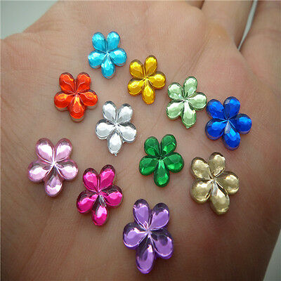 NEW hot 50pcs Resin Flower shape Flat back Scrapbooking For DIY craft Art NV06