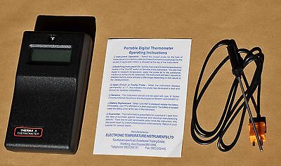 Therma 4 Digital Thermometer complete with General Purpose Probe.