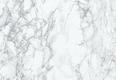 Silver Grey And White Marble Fablon Sticky Back Plastic 45Cm Wide Free Postage