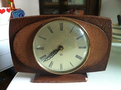 Vintage Retro Waller London Mantle Clock Working- Damage Base + Top Parts Only