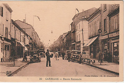 """CPA. CARMAUX """"Tarn 81"""" Route Nationale"""