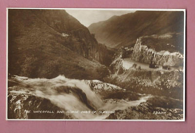 Unused Valentine's Vintage Postcard - The Waterfall And Gorge Pass Of Glencoe