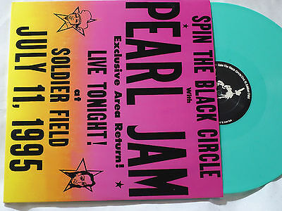PEARL JAM -Spin The Black Circle - 2 LP -GATEFOLD -MARBLED GREEN VINYL - EX+/EX+