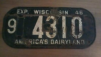 1946 Wisconsin License Plate