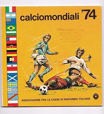 1974 Fifa World Cup West Germany Tournament Programme (Rare Italian Programme)