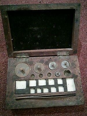 Old box of collectable vintage weights barn find