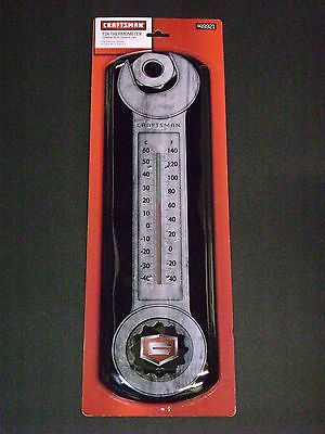 Craftsman Tools Indoors Outdoors Tin Wrench Thermometer For Shop Garage 949921
