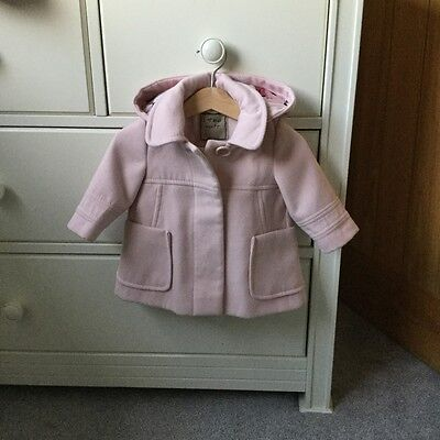 baby girl pink next coat 3-6 months
