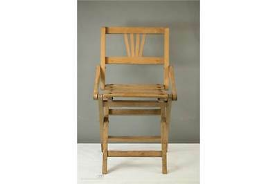 A 1930's Art Deco Style Beech Child's Folding Chair