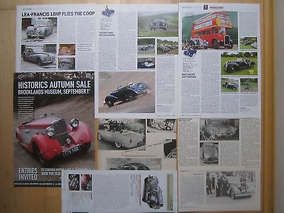 Lea-Francis cars 14hp & 2.5-Litre Sports , Lynx , 18hp & 1938 Saloons Reports