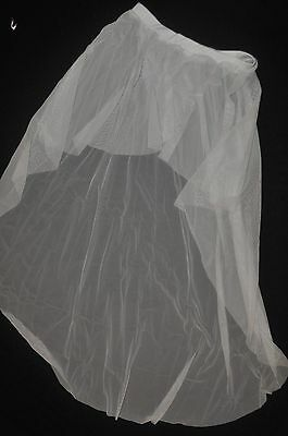 Watercolour Adult Small or Medium white sheer netting  dyeable high low skirt