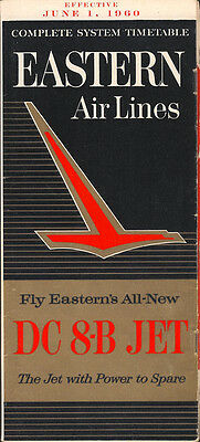 Eastern Air Lines system timetable 6/1/60 [6021]