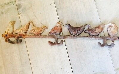 Real Vintage Heavy Iron Bird Hooks Rustic Rusty Chippy Shabby