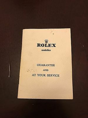 Rolex Guarantee & Service Booklet Year 1963