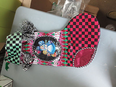 Disney Parks Princess Alice and Wonderland Christmas Holiday Stocking (NEW)