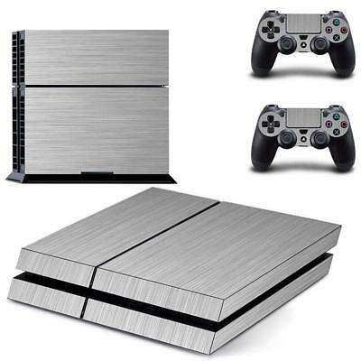 Kit Sticker Cover Argento Decal per PS4 Playstation 4 controller della
